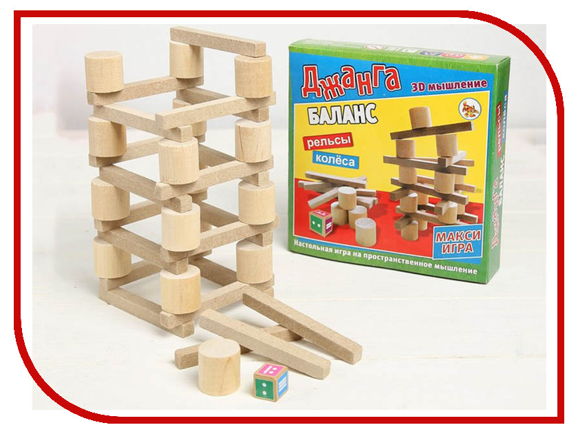 Настольная игра Задира-плюс Падающая башня Баланс 3809533 настольная игра dream makers семейная падающая башня