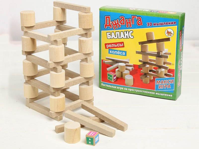 Настольная игра Задира-плюс Падающая башня Баланс 3809533