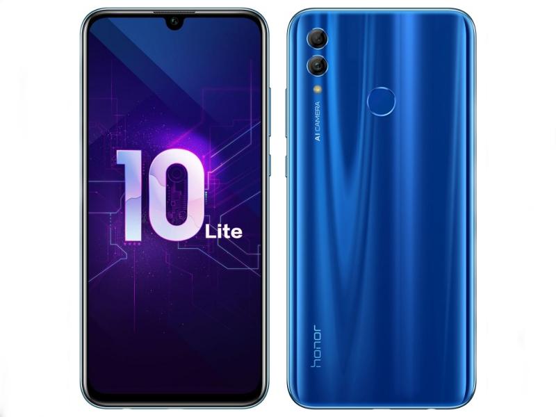 Сотовый телефон Honor 10 Lite 3/64GB Blue сотовый телефон asus zenfone 5 ze620kl 4 64gb midnight blue