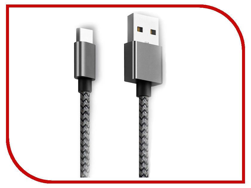 Аксессуар Ginzzu USB - USB Type-C 25cm Black GC-152B ginzzu gc 885b black комплект переходников type c microusb usb 3 0