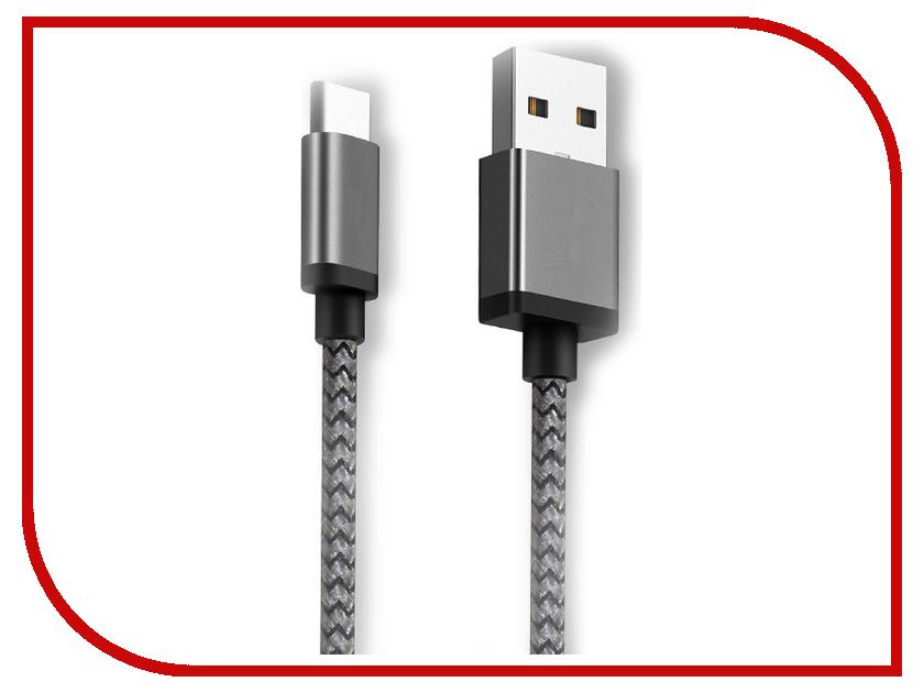 Аксессуар Ginzzu USB - USB Type-C 1.2m Black GC-808B ginzzu gc 885b black комплект переходников type c microusb usb 3 0