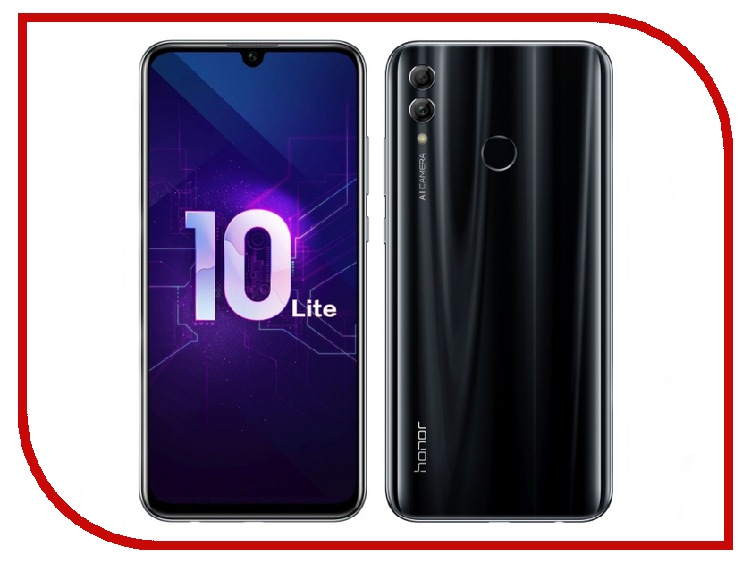 Сотовый телефон Honor 10 Lite 3/32GB Black сотовый телефон senseit t100 black