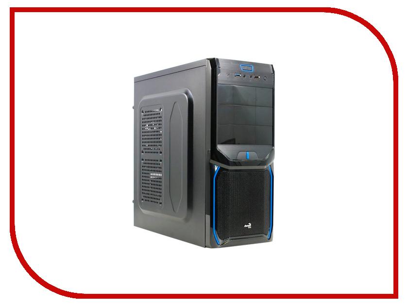 Корпус AeroCool V3X Advance Blue Edition Black-Blue корпус aerocool v3x advance black edition black blue