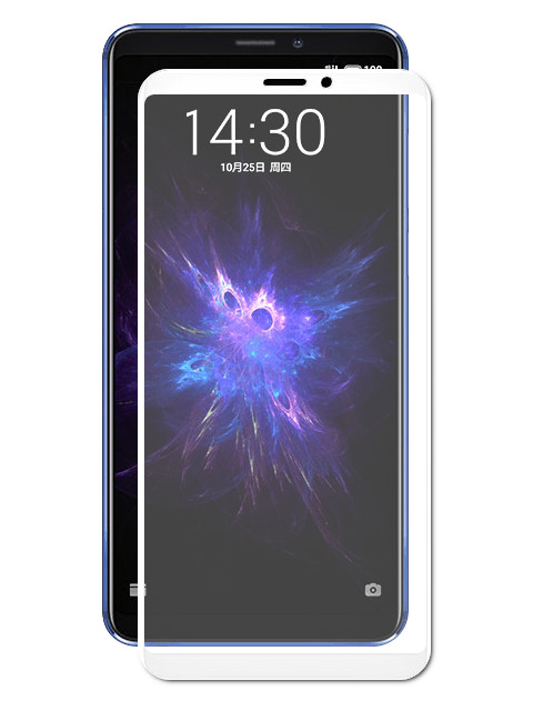 Аксессуар Защитное стекло для Meizu Note 8 Zibelino Full Screen White ZTG-FS-MEI-NOT8-WHT