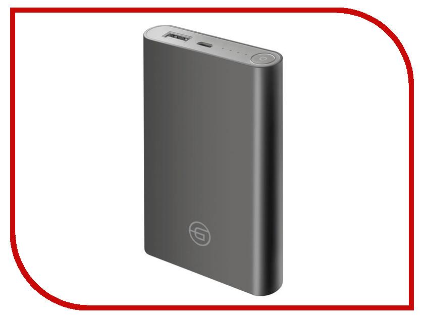 Аккумулятор Ginzzu Power Bank 8000mAh Dark Grey GB-3908G аккумулятор red line r 8000 8000mah grey ут000010268