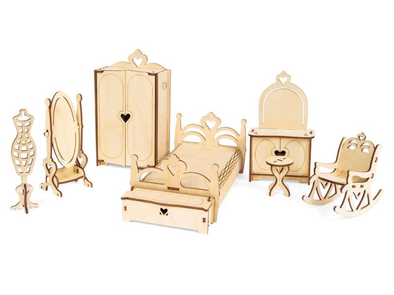 Конструктор IQ Format Набор мебели Спальня 4627130657407