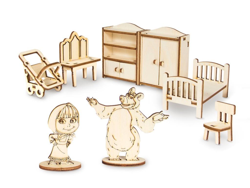 Сборная модель IQ Format Маша и Медведь Мебель Маши 4627130659975
