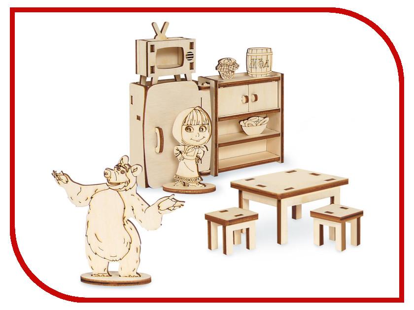 Фото Сборная модель IQ Format Маша и Медведь Мебель Миши 4627130659968