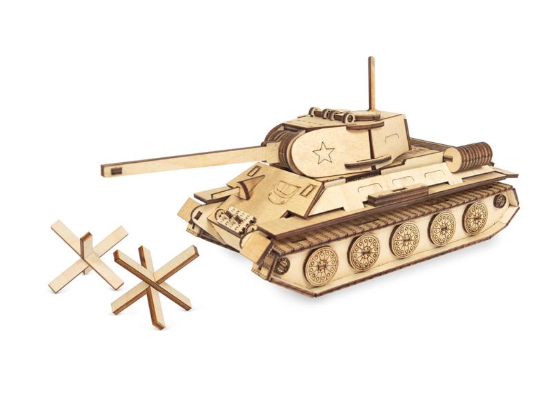Сборная модель IQ Format Танк Т-34 4627130656967