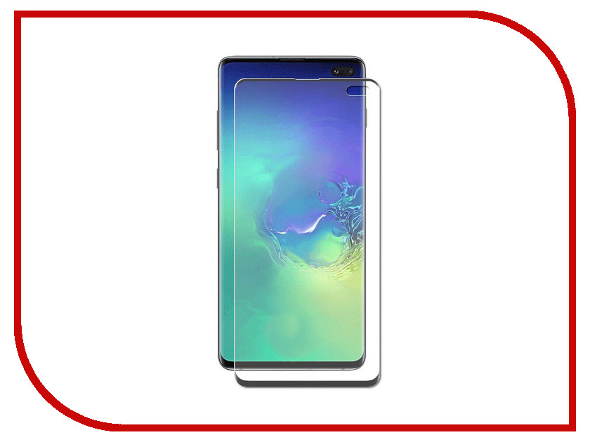 Аксессуар Защитный экран для Samsung Galaxy S10 Plus Red Line Full Screen 3D Tempered Glass Black УТ000017173 аксессуар защитный экран samsung galaxy j6 red line full screen tempered glass full glue black ут000015871