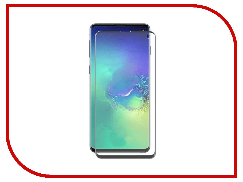 Аксессуар Защитный экран для Samsung Galaxy S10 Red Line Full Screen 3D Tempered Glass Black УТ000017172 test alligator clips crocodile clamp red black size l 5 pairs
