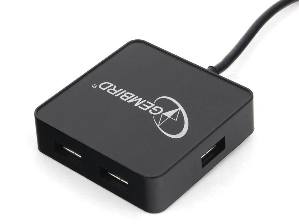Хаб USB Gembird 4 Ports UHB-242 USB 2.0 Black недорого