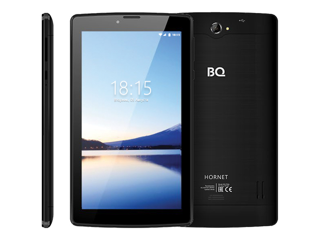 Планшет BQ BQ-7036L Hornet Black (Spreadtrum SC9832E 1.4GHz/1024Mb/8Gb/Wi-Fi/4G/3G/Bluetooth/GPS/Cam/7.0/1024x600/Android)