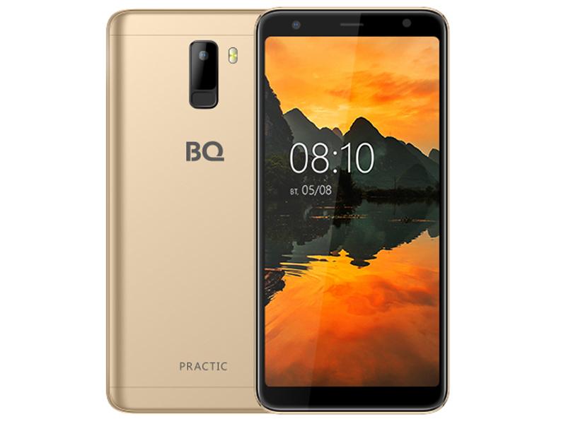 Сотовый телефон BQ BQ-6010G Practic Gold сотовый телефон bq aquaris v 2gb ram 16gb mist gold