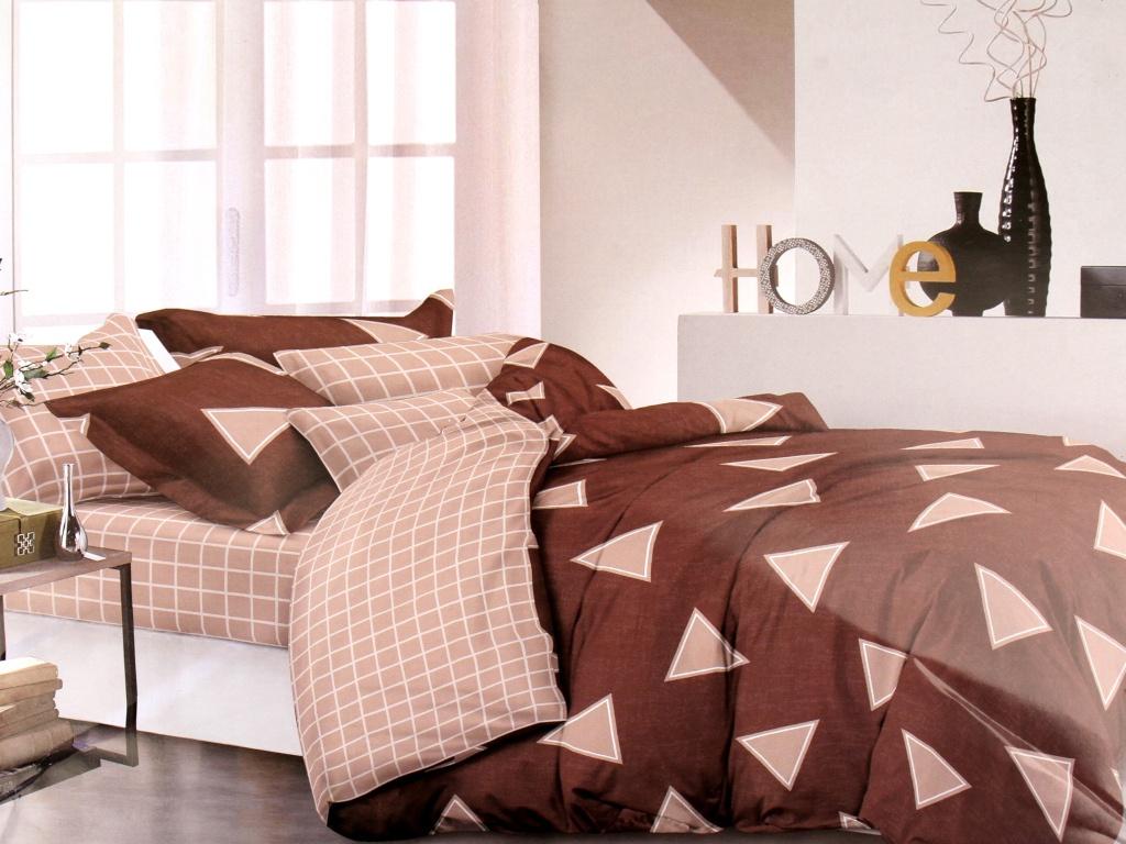 цена Постельное белье Amore Mio BZ Jacob BR Комплект 1.5 спальный Сатин 7558 онлайн в 2017 году