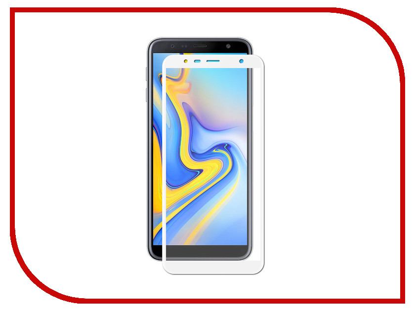 Аксессуар Противоударное стекло для Samsung Galaxy J6 Plus 2018 Innovation 2D Full Glue Cover White 14200 аксессуар противоударное стекло для samsung galaxy j7 2018 j730 innovation 2d full glue cover gold 12809