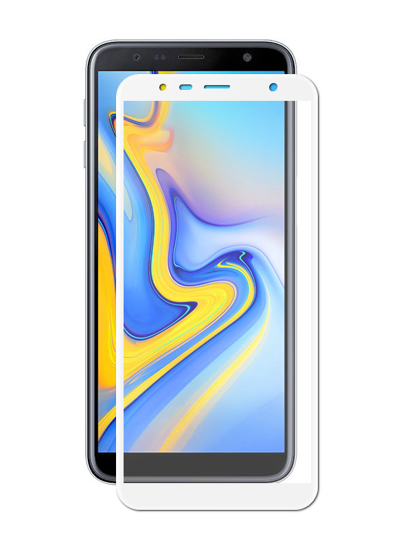 Аксессуар Защитное стекло Innovation для Samsung Galaxy J6 Plus 2018 2D Full Glue Cover White 14200