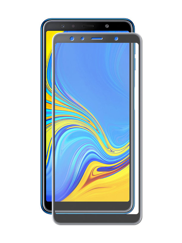 Аксессуар Защитное стекло Innovation для Samsung Galaxy A7 2018 2D Full Glue Cover Black 14199 аксессуар противоударное стекло для samsung galaxy j8 2018 innovation 2d full glue cover gold 12814