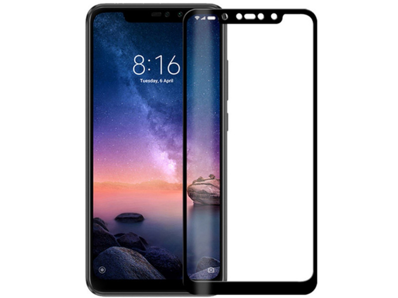 Аксессуар Противоударное стекло Innovation для Xiaomi Redmi Note 6 Pro 2D Full Glue Cover Black 14204 аксессуар противоударное стекло для xiaomi mi 8 innovation 2d full glue cover white 12766