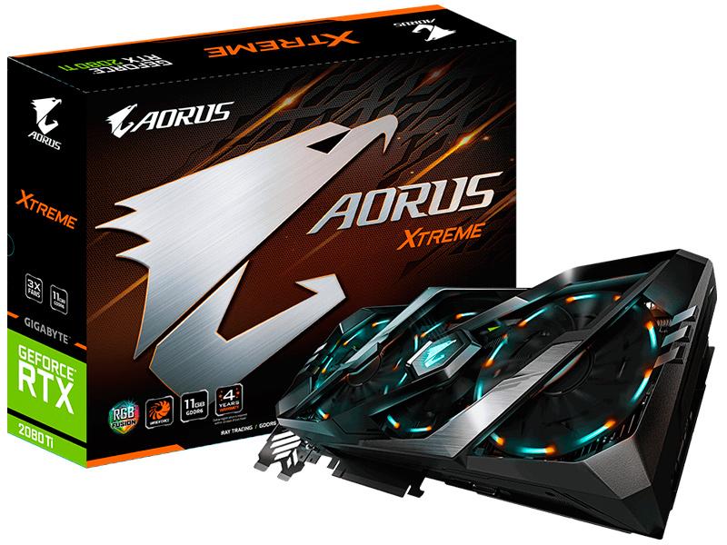 Видеокарта GigaByte GeForce RTX 2080 Ti XTREME 1545Mhz PCI-E 3.0 11264Mb 14140Mhz 352 bit 3xHDMI USB-C 3xDP HDCP GV-N208TAORUS X-11GC