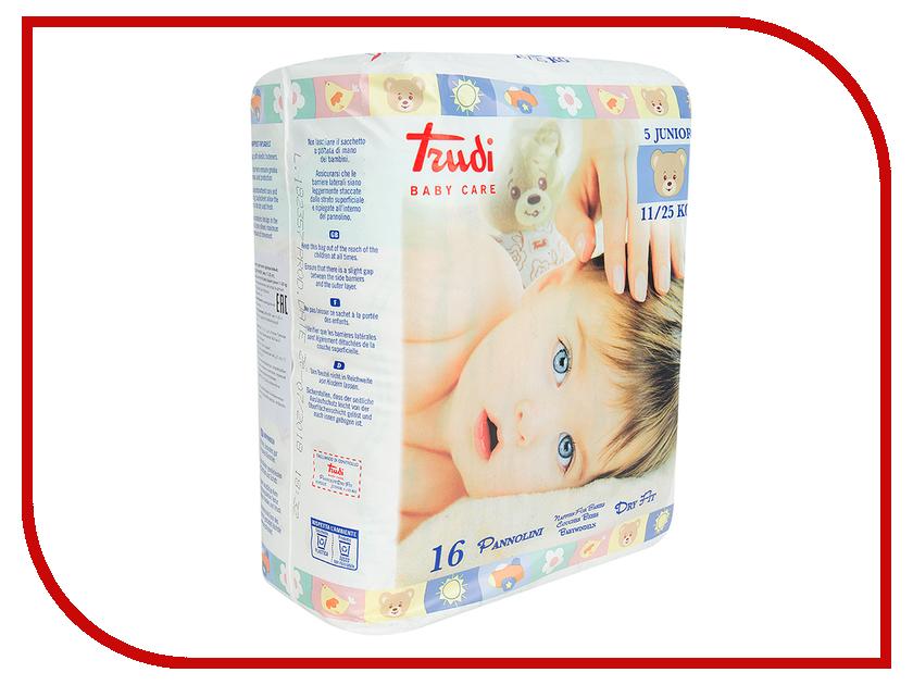 Подгузники Trudi №5 Junior 11-25кг 16шт 00695 мягкие игрушки trudi лайка маркус 34 см