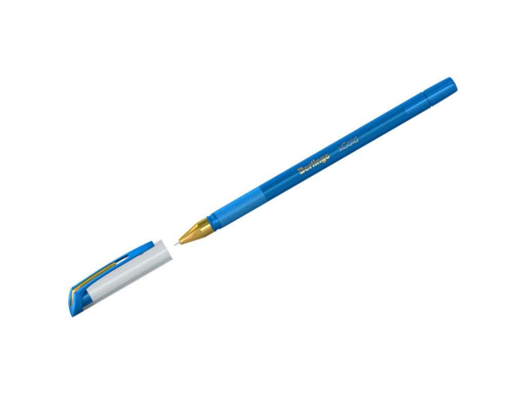 Ручка шариковая Berlingo xGold корпус Light Blue, стержень Blue Cbp_07506