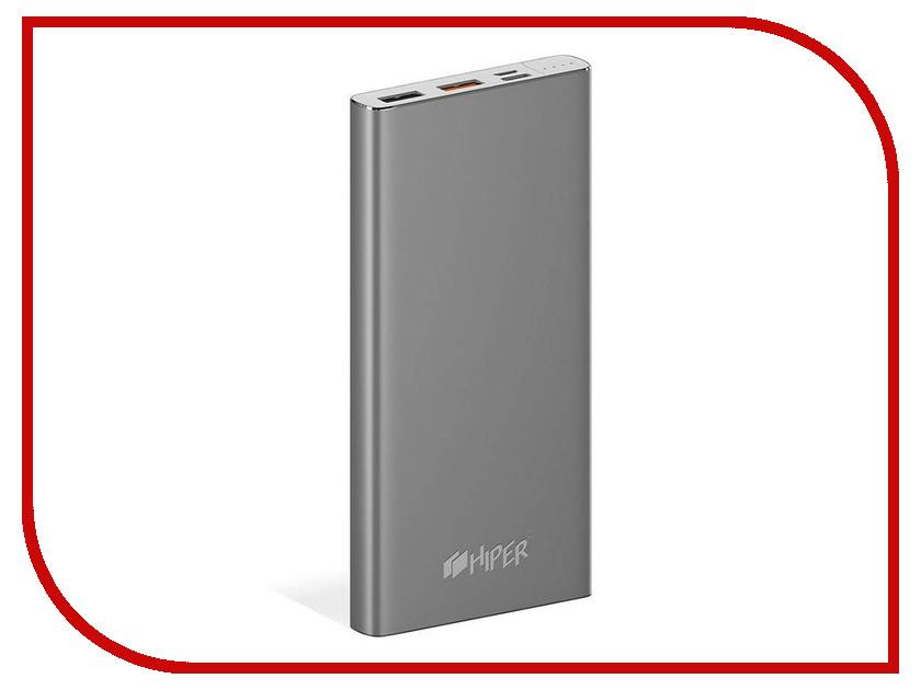 Аккумулятор HIPER MPX10000 10000mAh Space Grey аккумулятор внешний monster powercard turbo 133338 00 space grey