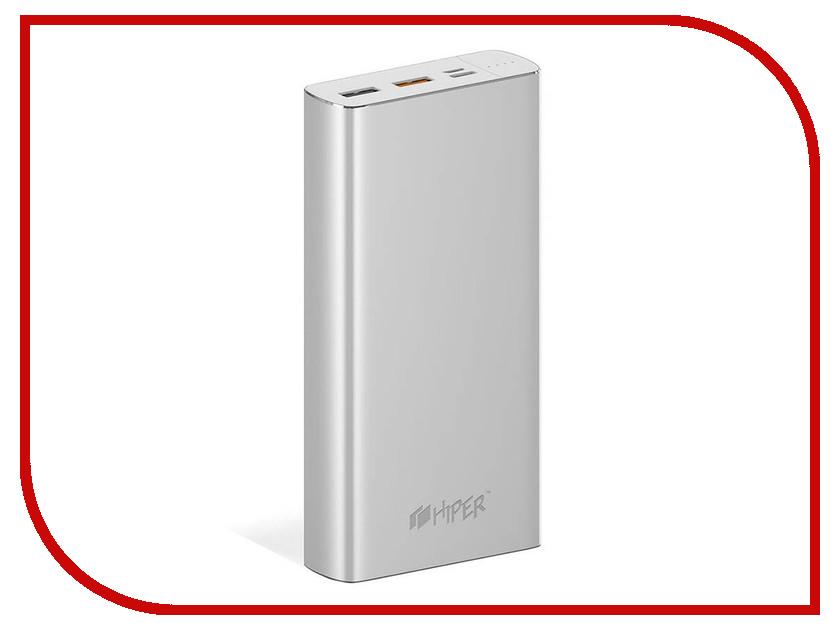 Аккумулятор Hiper Power Bank MPX20000 20000mAh Silver аккумулятор remax jumbook series rpp 86 20000mah silver