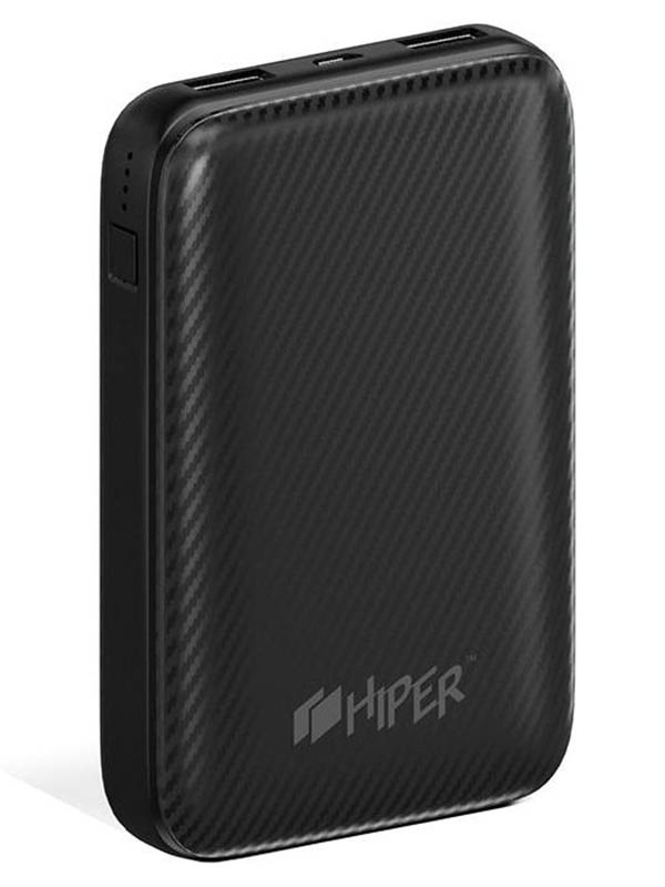 Внешний аккумулятор Hiper Power Bank SPX10000 10000mAh Black аккумулятор hiper power bank rp10000 10000mah black