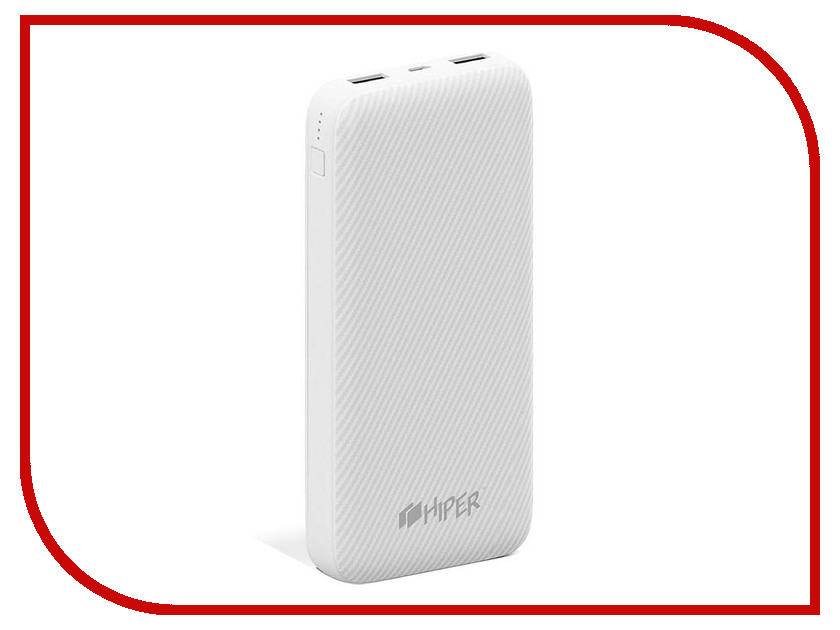 Фото - Аккумулятор Hiper Power Bank SPX20000 20000mAh White аккумулятор hiper внешний аккумулятор hiper spx20000 white