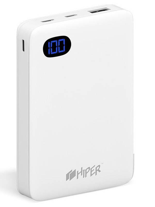 Аккумулятор Hiper Power Bank SN10000 10000mAh White аккумулятор red line bus 10000mah white