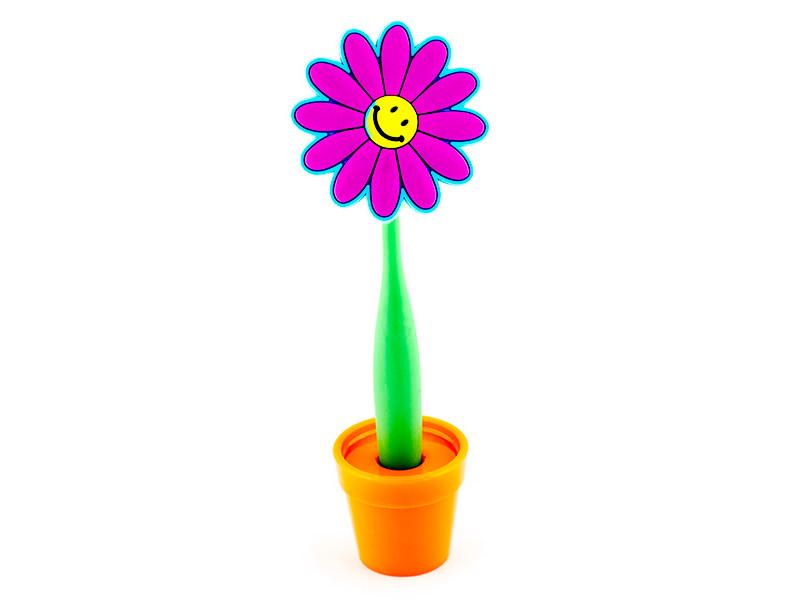 Ручка Эврика Цветок Смайл 96208