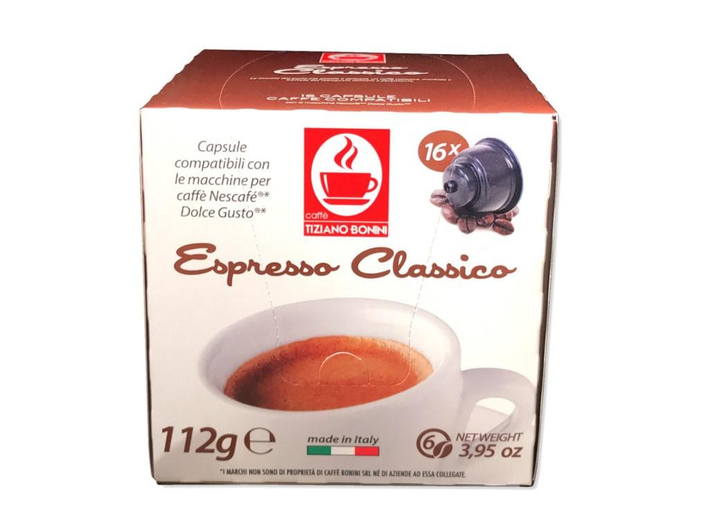 Капсулы Caffe Tiziano Bonini Espresso Classico Compatibile Dolce Gusto 16шт стоимость
