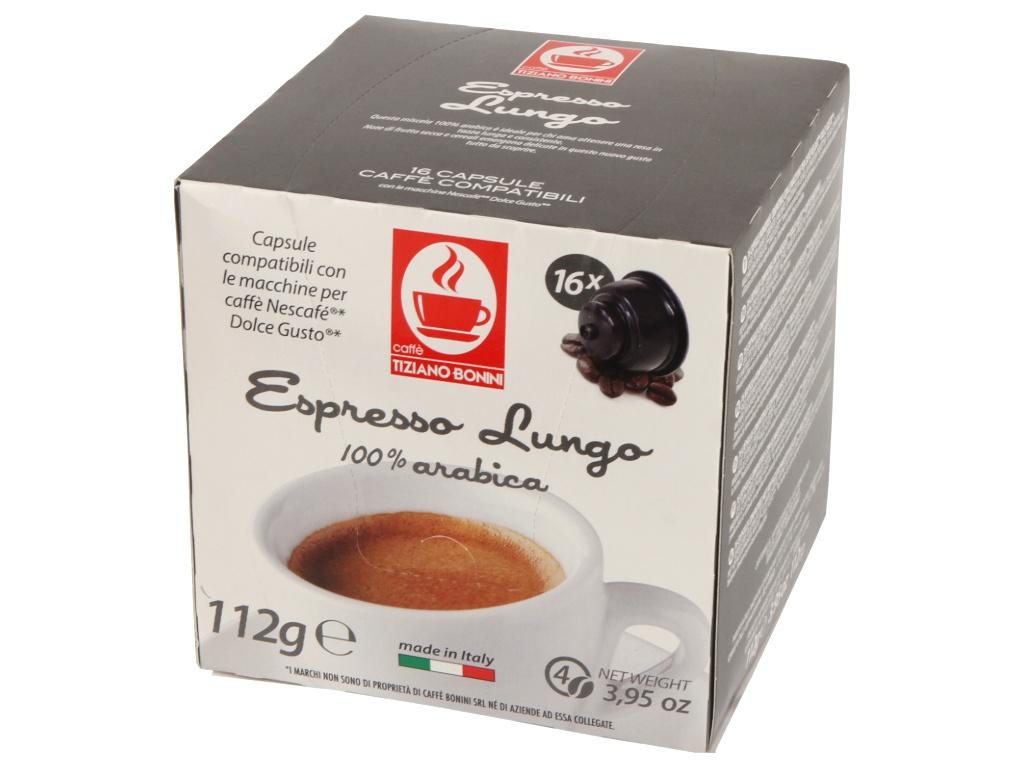 Капсулы Caffe Tiziano Bonini Espresso Lungo Compatibile Dolce Gusto Arabica 16шт