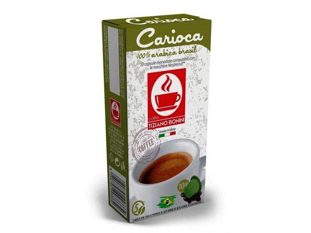 Капсулы Caffe Tiziano Bonini Espresso Carioca Compatibile Nespresso Arabica