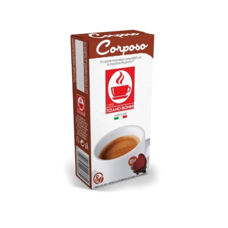 Капсулы Caffe Tiziano Bonini Espresso Corposo Compatibile Nespresso