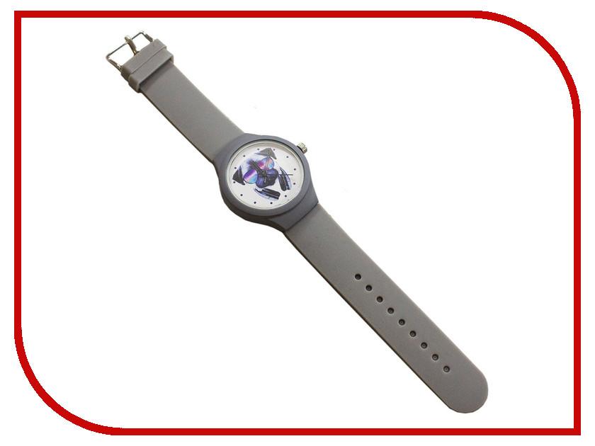 Часы Эврика Мопс  наушниками Grey 99242