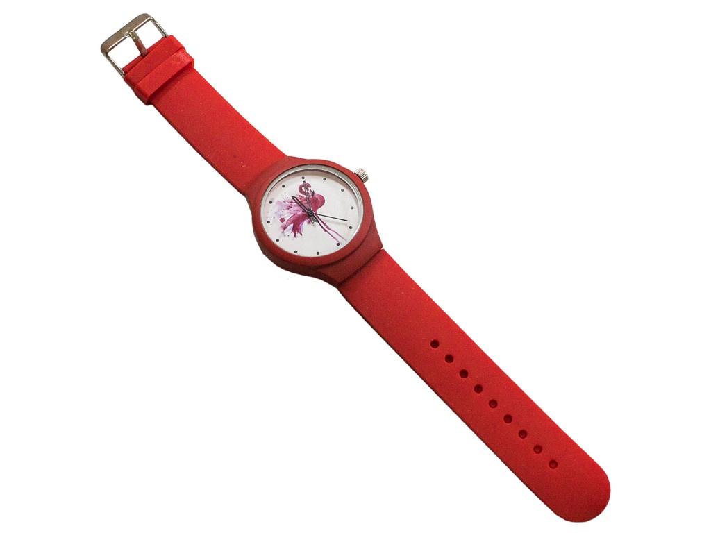Часы Эврика Фламинго Red 99247