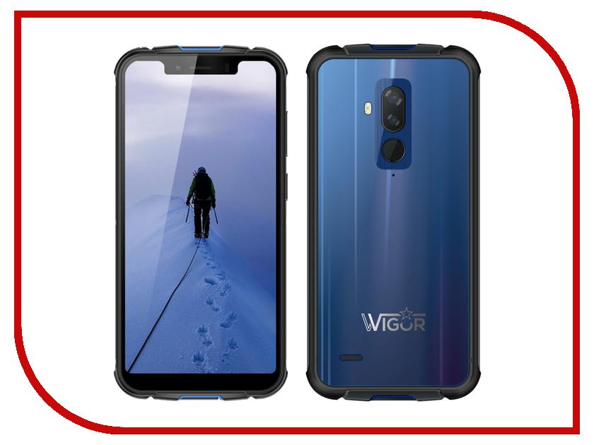 Сотовый телефон Wigor V5 DS Blue автоаксессуар v3 v5