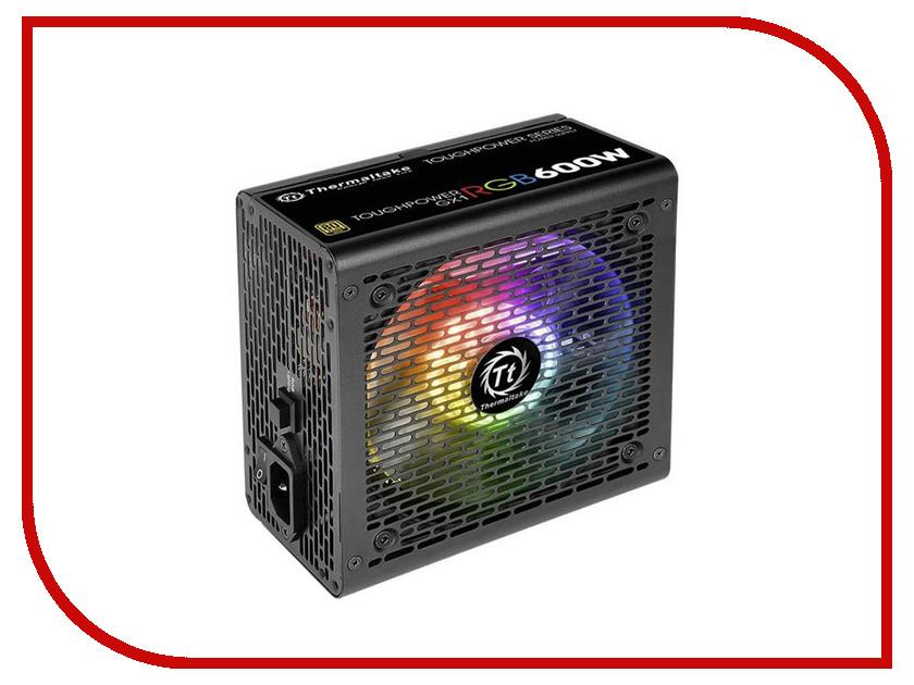 Блок питания Thermaltake PSU TT Toughpower GX1 RGB 80+ Gold 600W PS-TPD-0600NHFAGE-1 блок питания thermaltake toughpower gx1 rgb 600w ps tpd 0600nhfage 1 v 2 4 a pfs 80 plus gold fan 12 cm retail