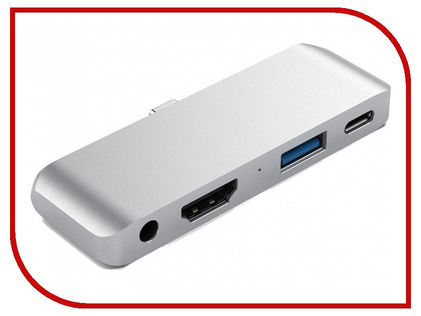 Хаб USB Satechi Aluminum Type-C Mobile Pro Hub ST-TCMPHS Silver цена