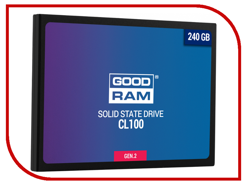 Жесткий диск 240Gb - GoodRAM CL100 Gen.2 SSDPR-CL100-240-G2