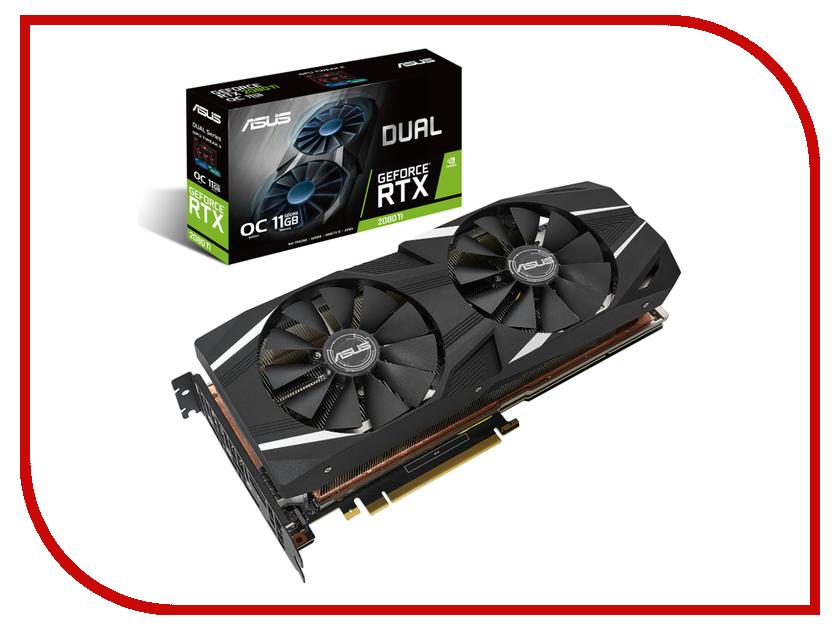 Видеокарта ASUS GeForce RTX 2080 Ti 1480Mhz PCI-E 3.0 11264Mb 14000Mhz 352 bit 3xDP USB-C HDMI DUAL-RTX2080TI-O11G pci e 4x express para usb 3 1 tipo c usb c dual port adicionar adaptador de cartao de expansao de 10 gbps frete gratis numero