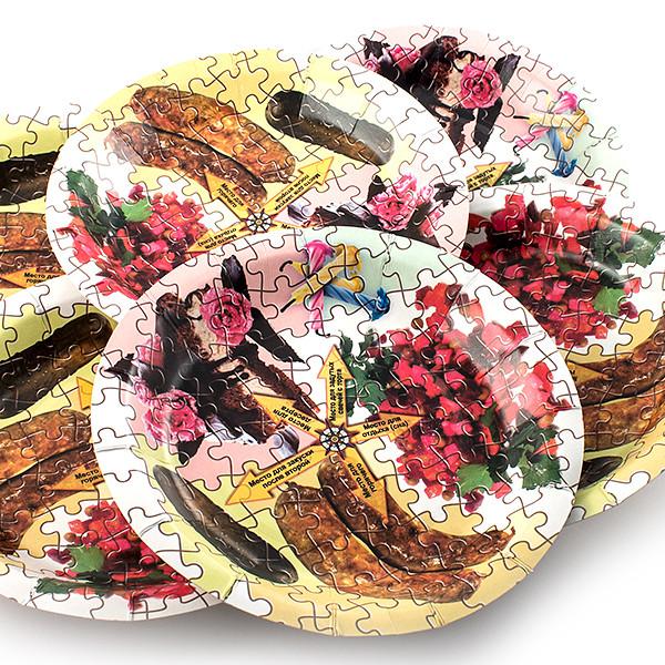 Одноразовые тарелки Эврика N 8 Пазл 190mm 6шт 96942