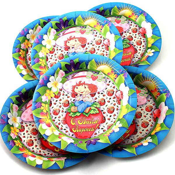 Одноразовые тарелки Эврика N 36 С днем Варенья 190mm 6шт 96981