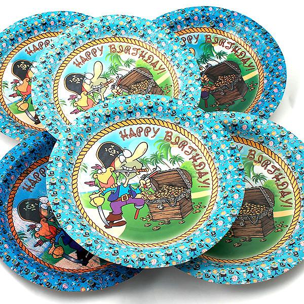 Одноразовые тарелки Эврика N 33 Пират 190mm 6шт 96978