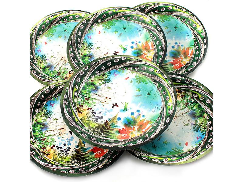 Одноразовые тарелки Эврика N 27 Полянка 190mm 6шт 96972