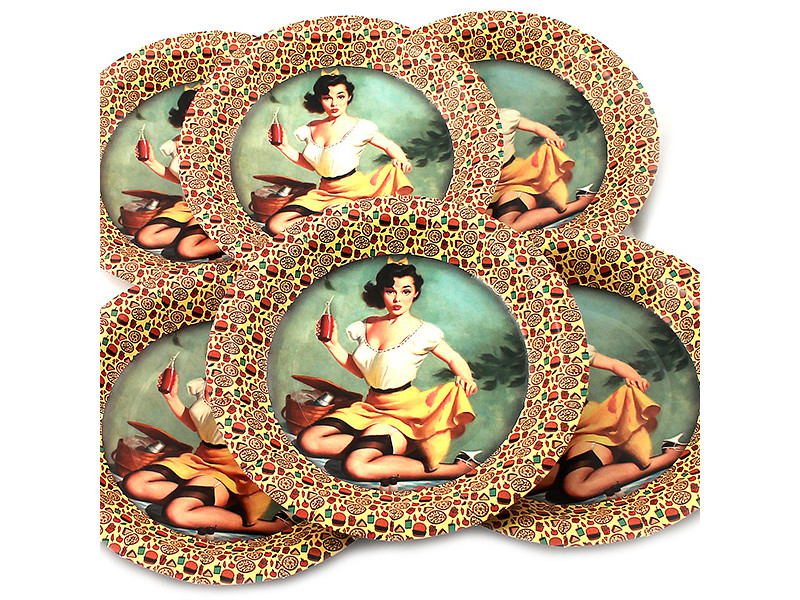 Одноразовые тарелки Эврика N 26 Девушка на пикнике 190mm 6шт 96971