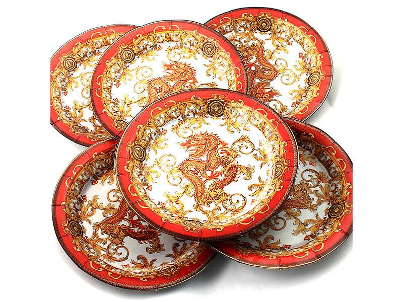 Одноразовые тарелки Эврика N 24 Дракон 190mm 6шт 96969