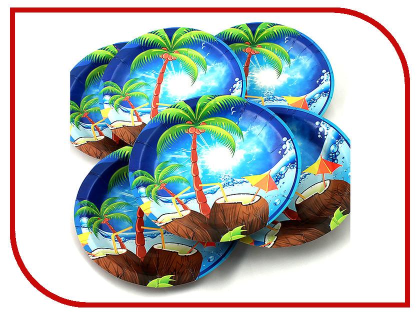 цена Одноразовые тарелки Эврика N 21 Пальма 190mm 6шт 96966